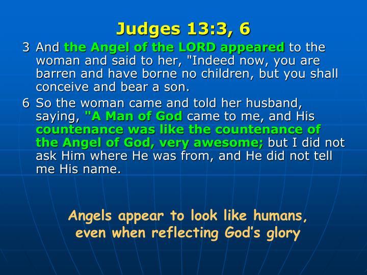 Judges 13:3, 6