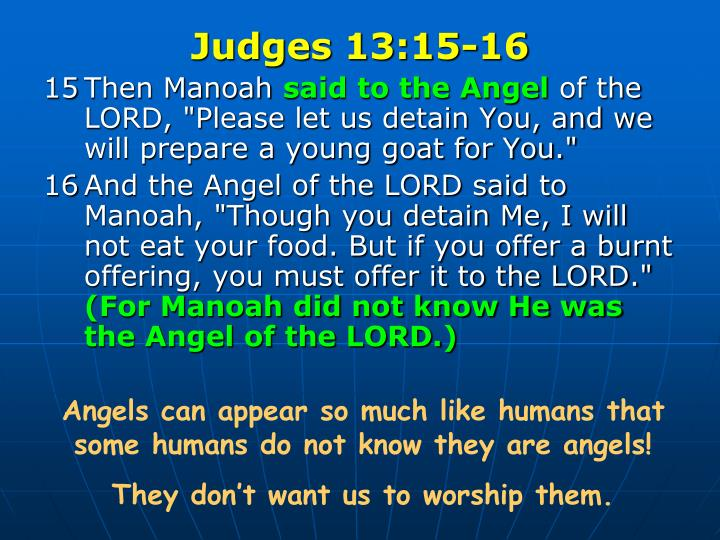 Judges 13:15-16