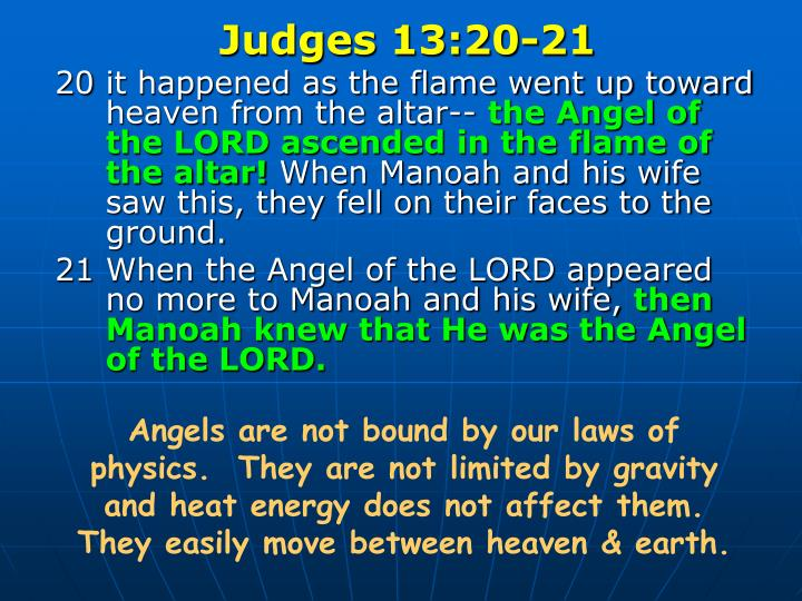 Judges 13:20-21