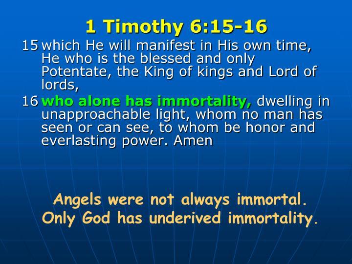 1 Timothy 6:15-16