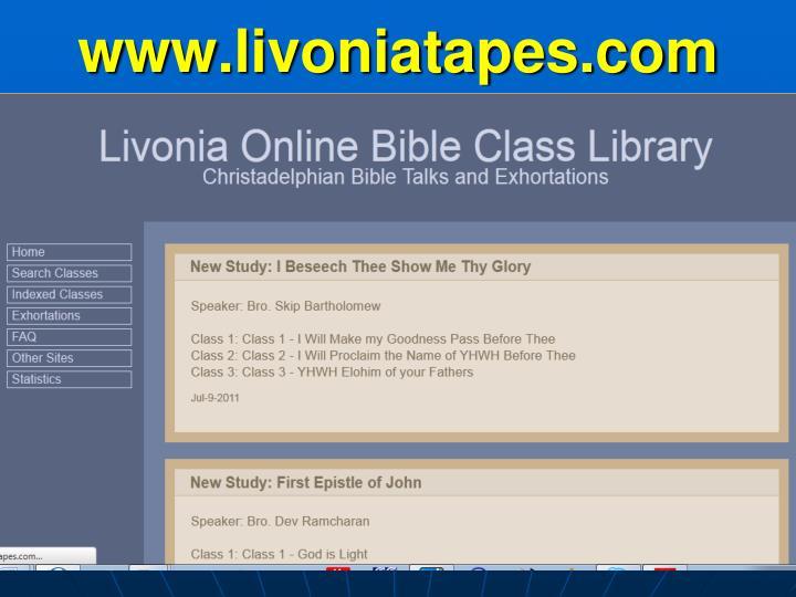 www.livoniatapes.com