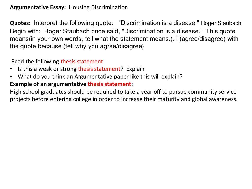 Racism Today :: Racism Argumentative Race Essays