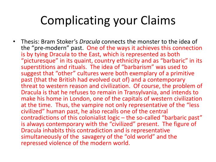 Complicating your Claims
