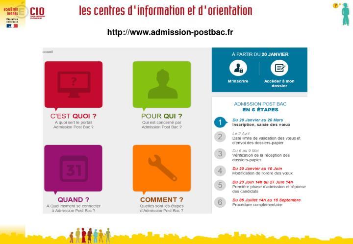 http://www.admission-postbac.fr