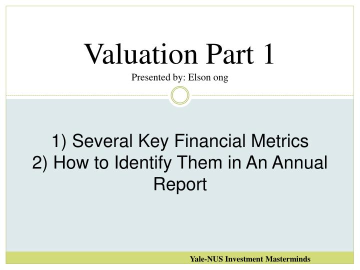 Valuation Part