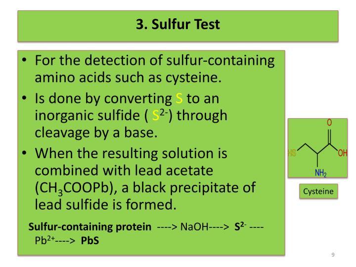 3. Sulfur Test
