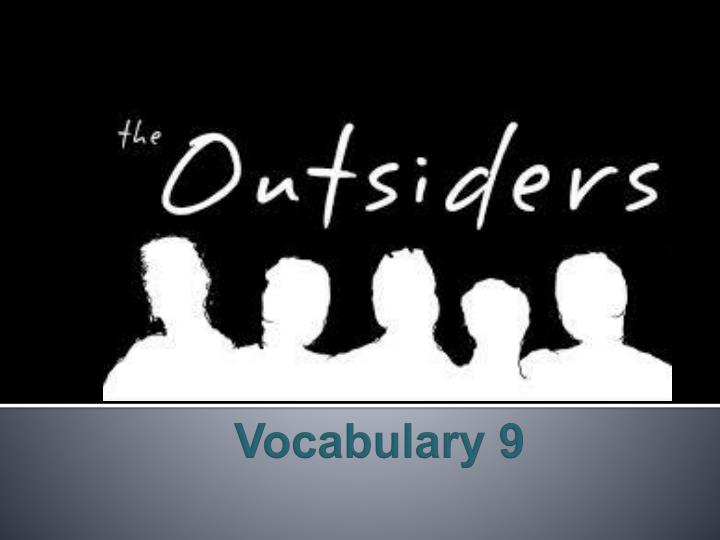 Vocabulary 9