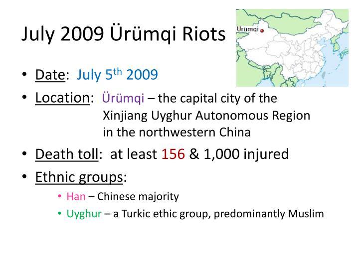 July 2009 Ürümqi Riots