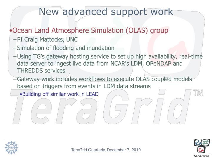 New advanced support work