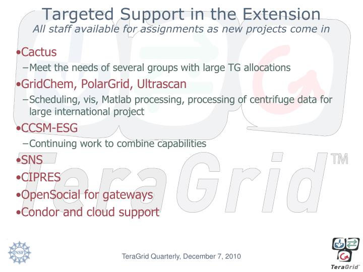 Targeted Support in the Extension