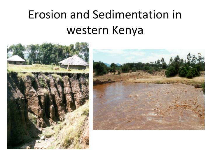 Erosion and Sedimentation in western Kenya