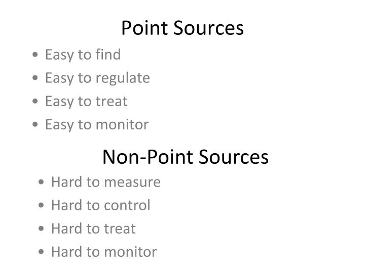 Point Sources