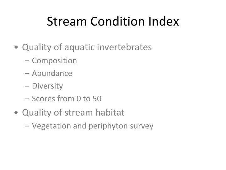Stream Condition Index
