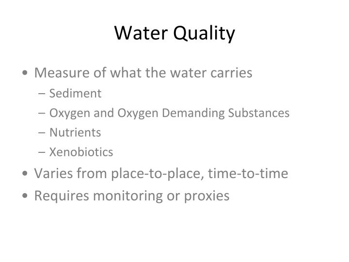 Water quality1