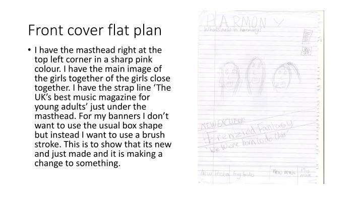 Front cover flat plan