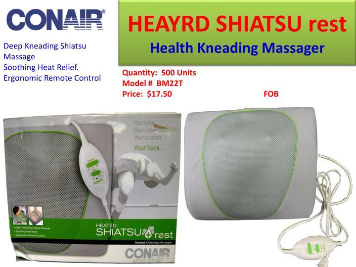 HEAYRD SHIATSU rest