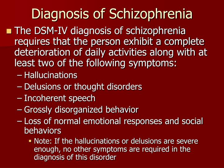 Diagnosis of Schizophrenia