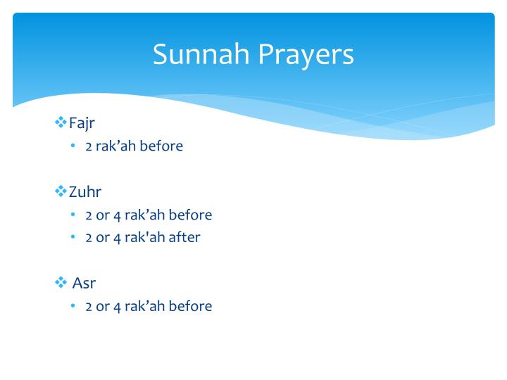 Sunnah prayers