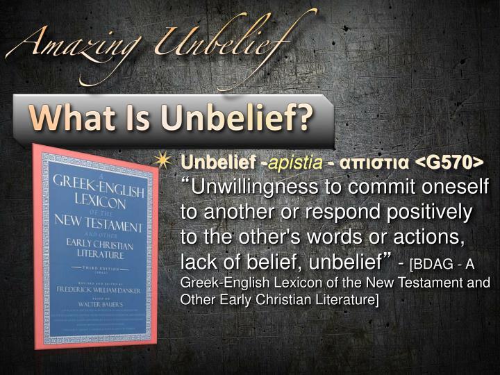 Unbelief -