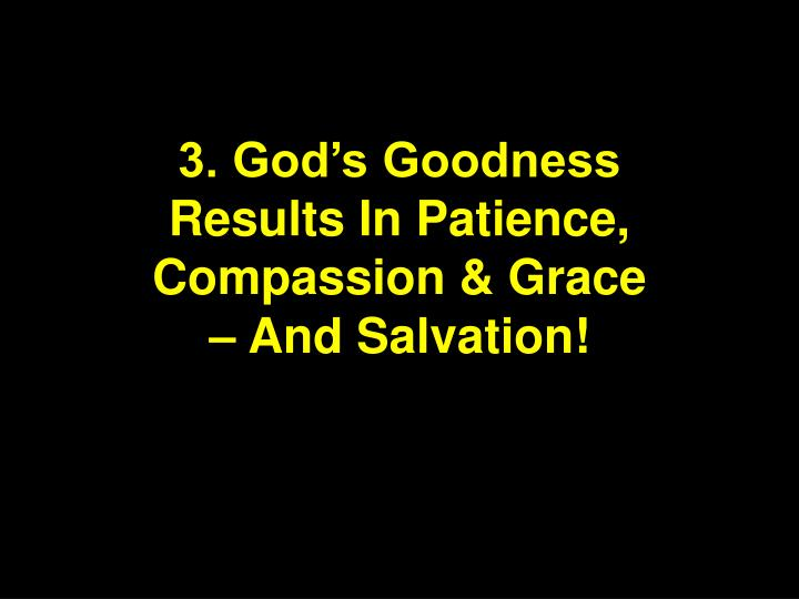 3. God's Goodness