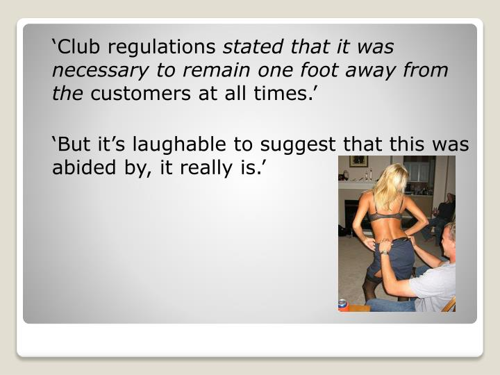 'Club regulations