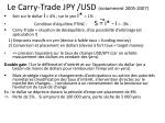 le carry trade jpy usd notamment 2005 2007