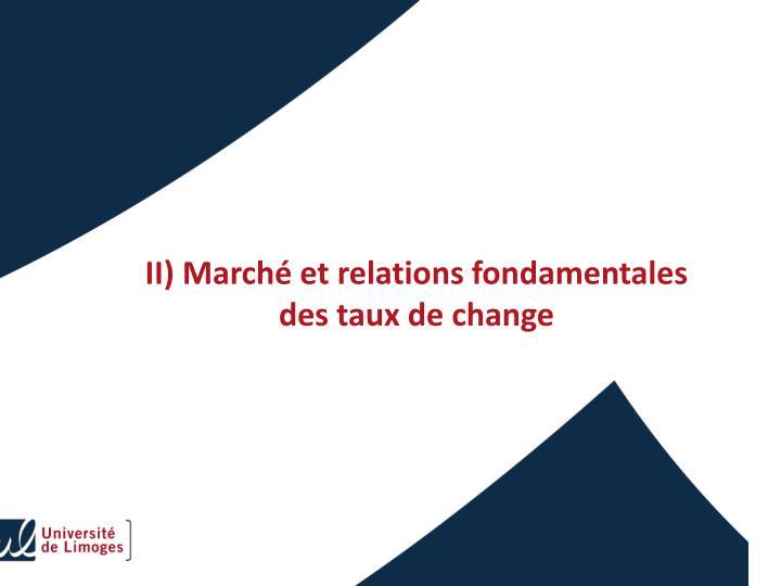 II) Marché