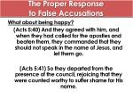 the proper response to false accusations3