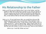 his relationship to the father1