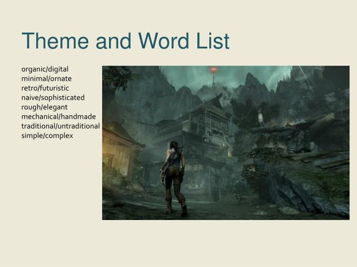 Theme and Word List
