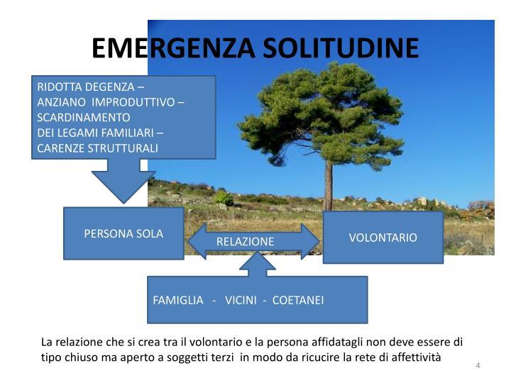 EMERGENZA SOLITUDINE