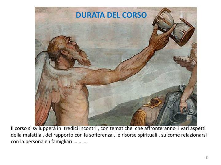 DURATA DEL CORSO