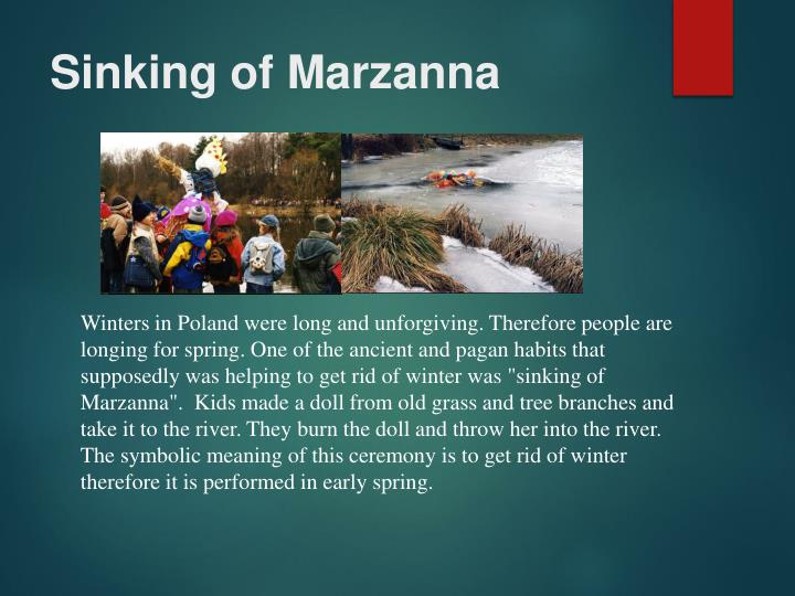 Sinking of marzanna