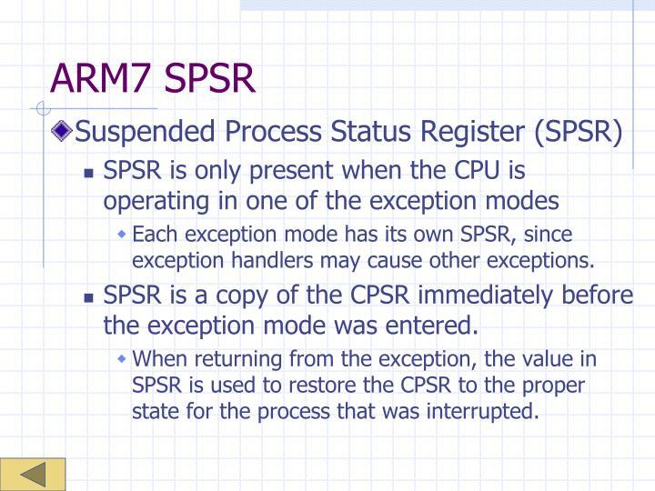 ARM7 SPSR