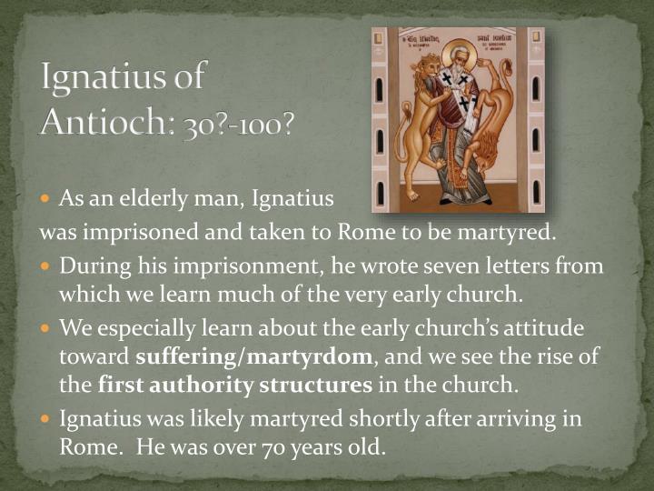 Ignatius of Antioch: