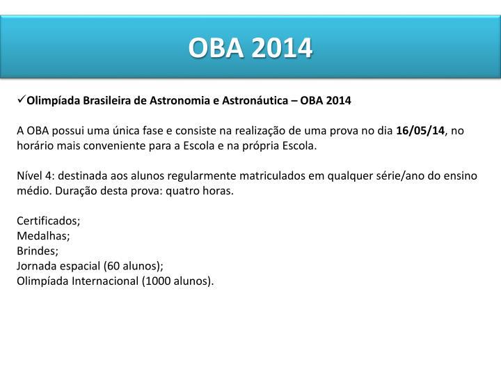 OBA 2014