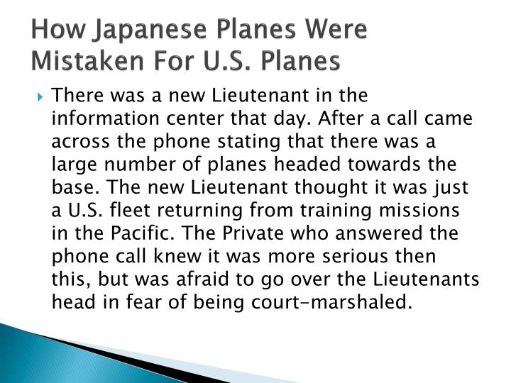 How Japanese Planes Were Mistaken For U.S. Planes
