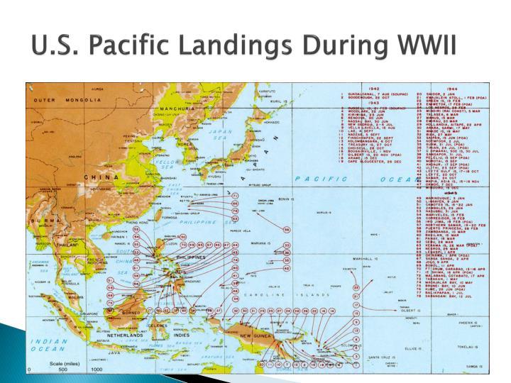 U.S. Pacific Landings During WWII