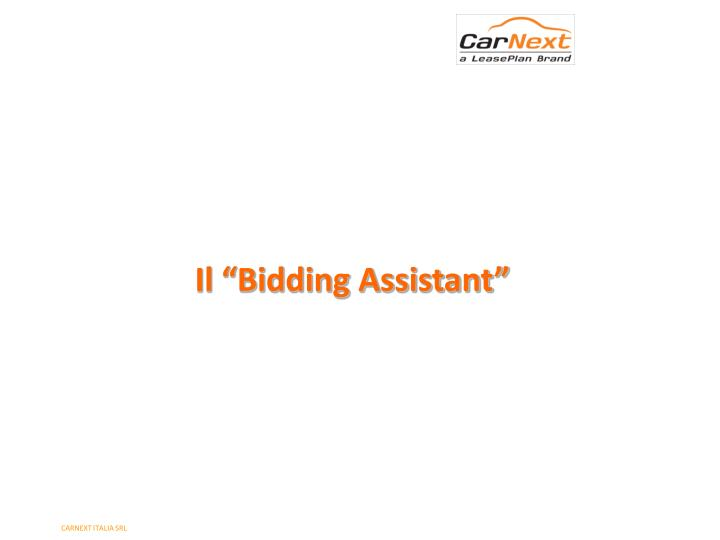 "Il ""Bidding Assistant"""