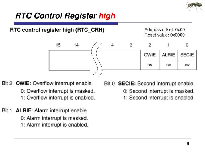 RTC Control Register