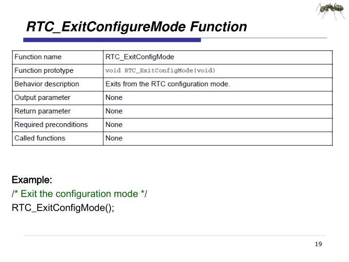 RTC_ExitConfigureMode