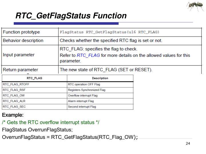 RTC_GetFlagStatus
