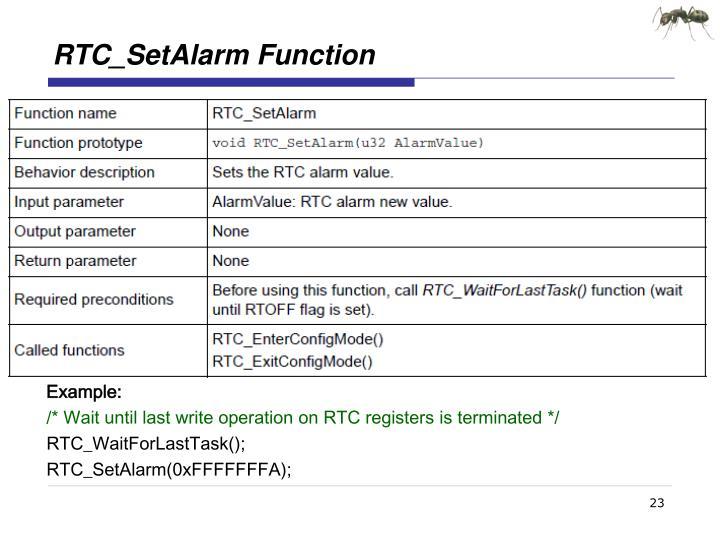 RTC_SetAlarm