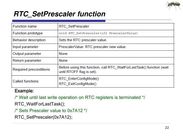 RTC_SetPrescaler
