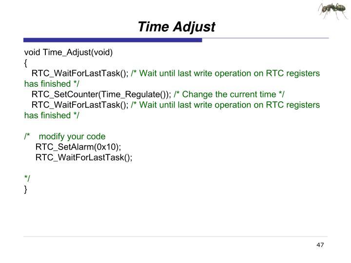 Time Adjust