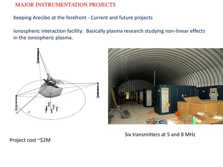 MAJOR INSTRUMENTATION PROJECTS