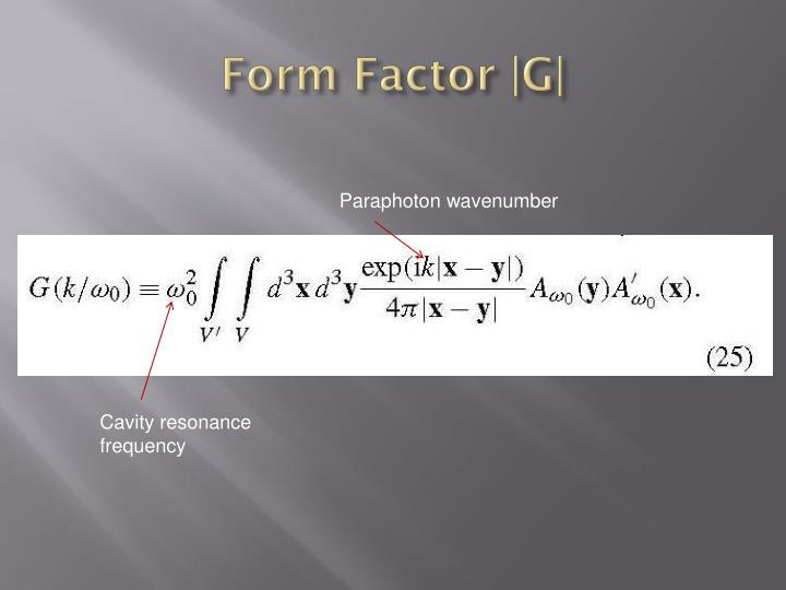 Form Factor |G|