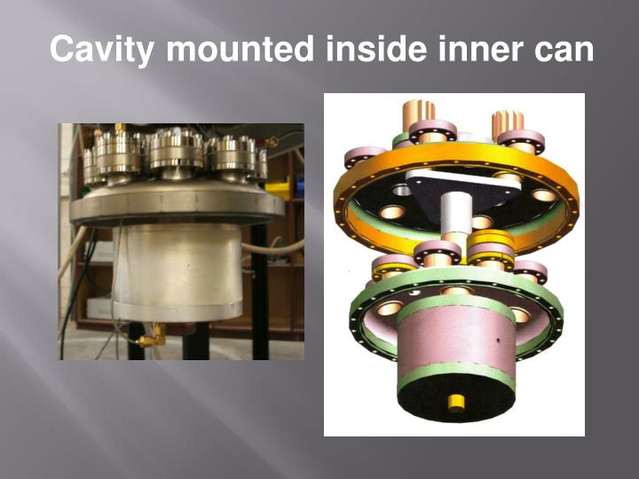 Cavity mounted inside inner can