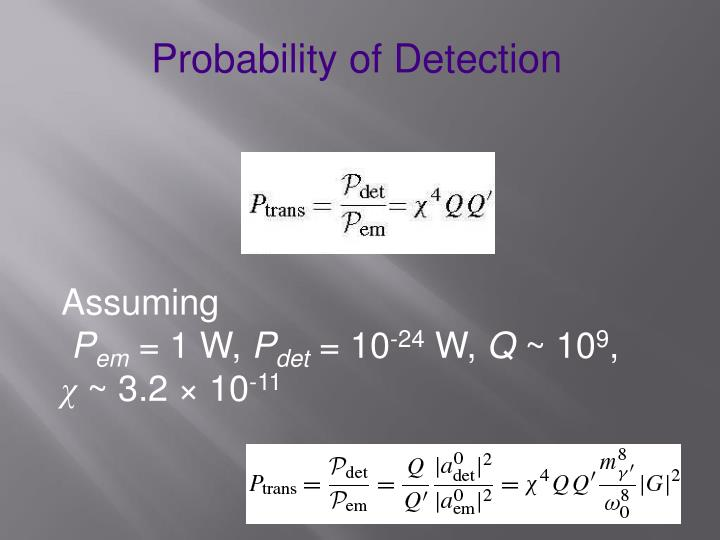 Probability of Detection