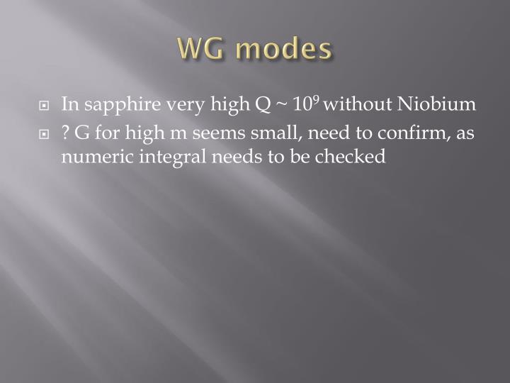 WG modes